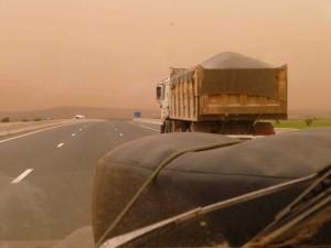 Ominous sky - saharan sand storm